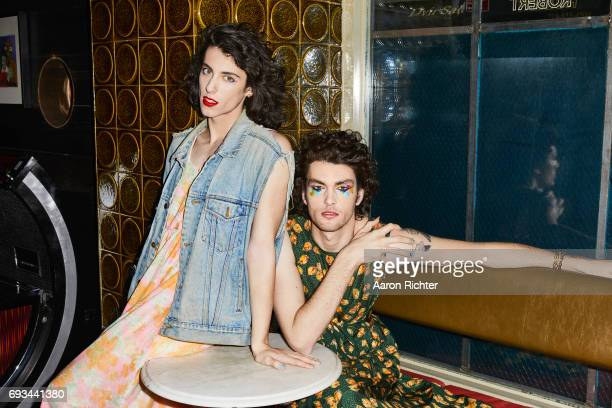 Punk duo PWR BTTM are photographed for Billboard Magazine on March 1 2017 at Robert Bar in Brooklyn New York PUBLISHED IMAGE