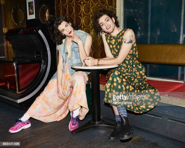 Punk duo PWR BTTM are photographed for Billboard Magazine on March 1 2017 at Robert Bar in Brooklyn New York