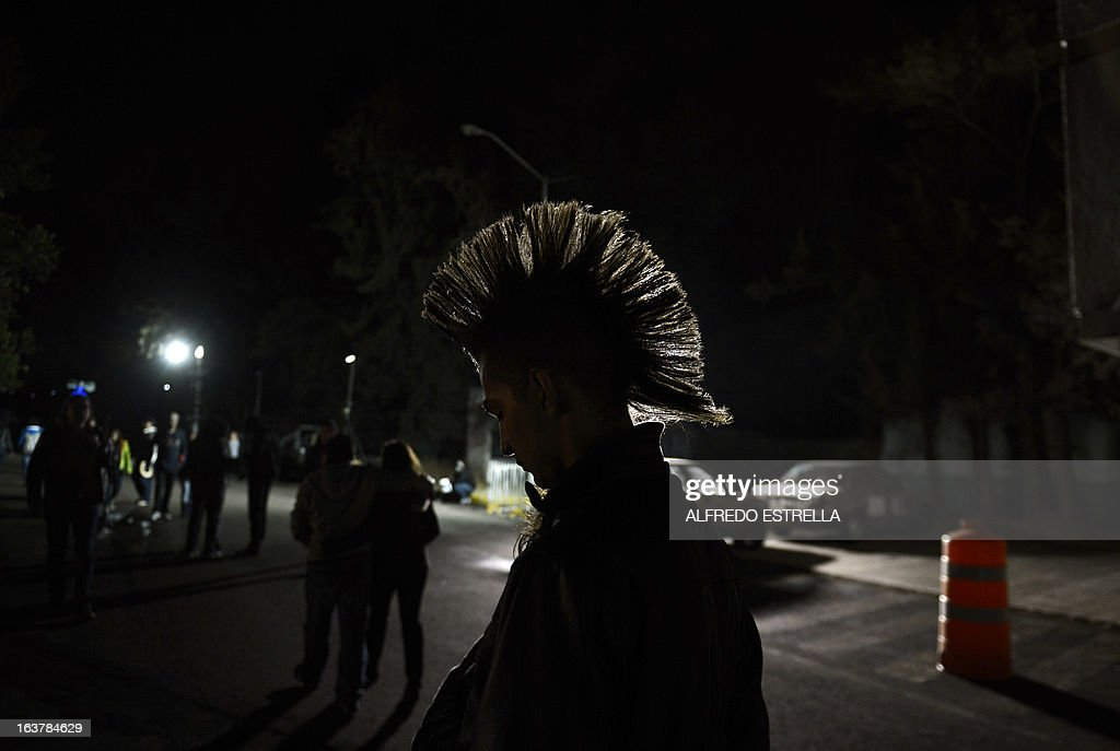 A punk during the first day of the Vive Latino 2013 Music Fest at the Foro Sol in Mexico City, on March 15, 2013. AFP PHOTO/Alfredo Estrella