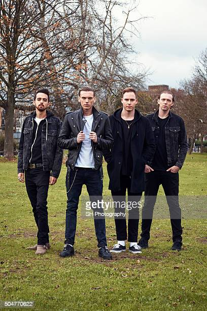 Punk rock band Counterfeit are photographed for Notion magazine on October 22 2015 in London England