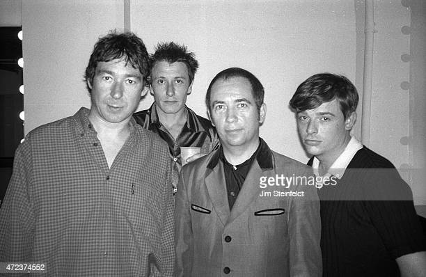 Punk rock band the Buzzcocks pose for a portrait at the Viper Room on July 29 1996