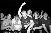 Punk rock crowd in the front row at a Bad Religion gig in San Diego California United Kingdom 1994