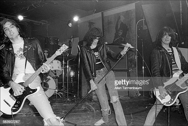 Punk rock group the Ramones perform at CBGB New York New York October 30 1977