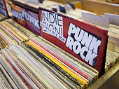 Punk rock records for sale in store