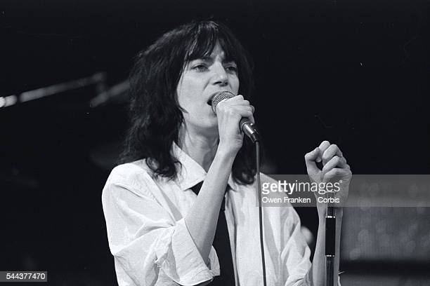 Punk singer and poet Patti Smith performs on Saturday Night Live