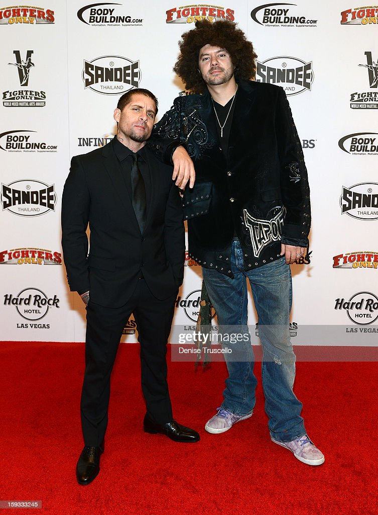 Punkass and Sky Skrape arrive at the Fighters Only World Mixed Martial Arts Awards 2013 at the Hard Rock Hotel & Casino on January 11, 2013 in Las Vegas, Nevada.