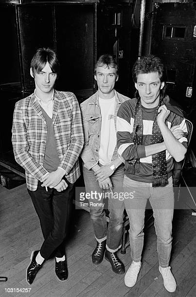 Punk/mod group The Jam 19th December 1981 Left to right singer and guitarist Paul Weller drummer Rick Buckler and bassist Bruce Foxton