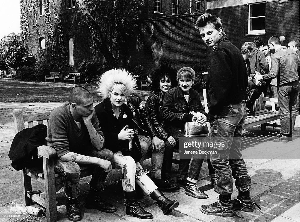 Punks gathered at King's Road in London, 1979.