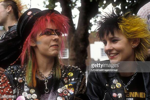 Punks hanging out on the Kings Road London 1983