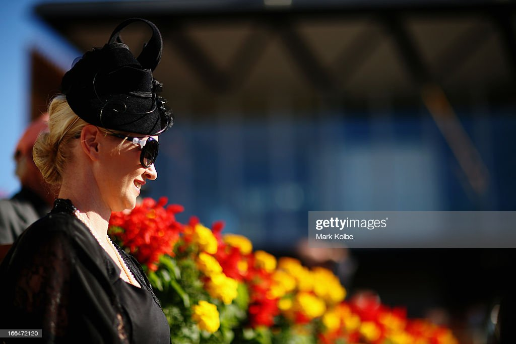 A punter watches on in the mounting yard on Australian Derby Day at Royal Randwick Racecourse on April 13, 2013 in Sydney, Australia.