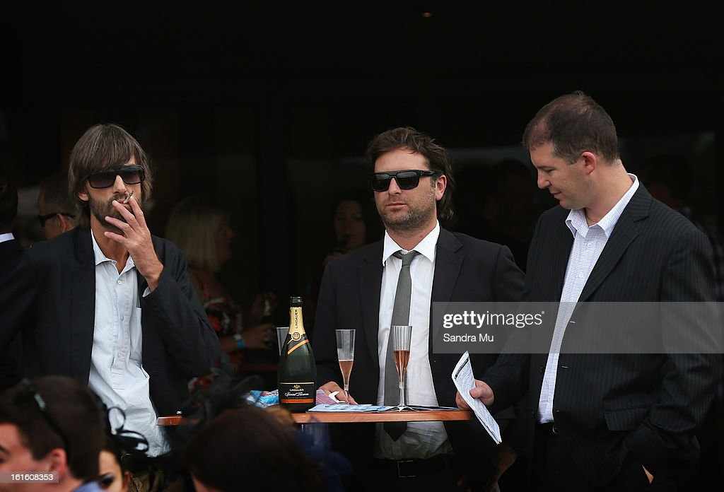 Punters enjoy the hospitality during the Auckland Twilight races at Ellerslie Racecoourse on February 13, 2013 in Auckland, New Zealand.