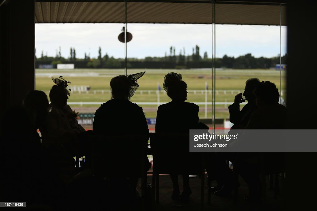 Punters gathered in the members stand during New Zealand 2000 Guineas Day on November 9, 2013 in Christchurch, New Zealand.