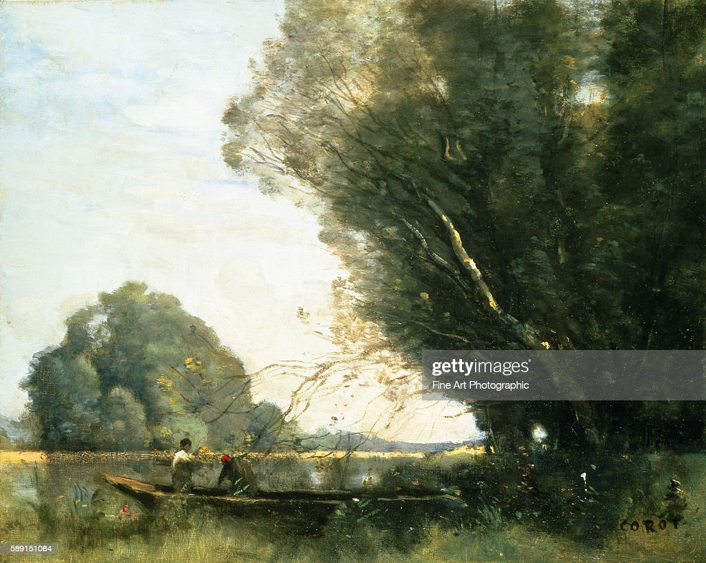 Punting by JeanBaptisteCamille Corot