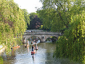 Punting on the Cam, Cambridge, England.
