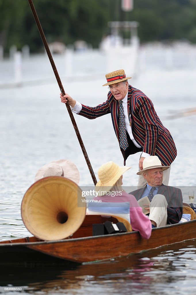 Punting on the River Thames at the Henley Royal Regatta in Henley England Photo Gary Prior   Location HENLEY United Kingdom