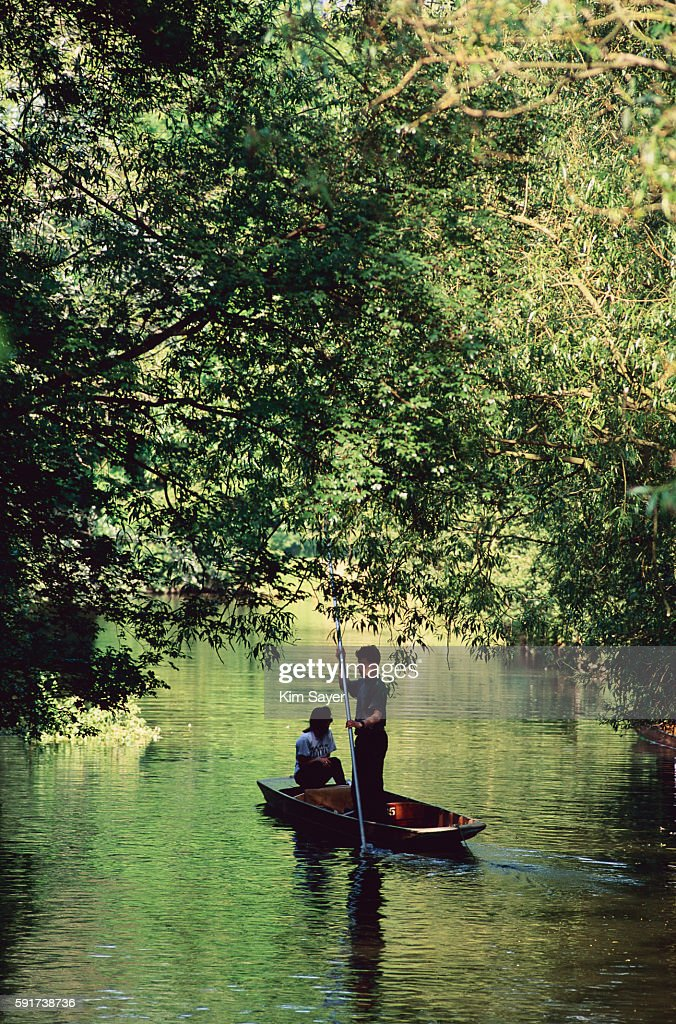 Punting on the Thames in Oxford
