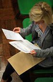A pupil from Hayesfield Sixth Form opens their Alevel results at Hayesfield Girls School on August 20 2009 in Bath United Kingdom Results published...