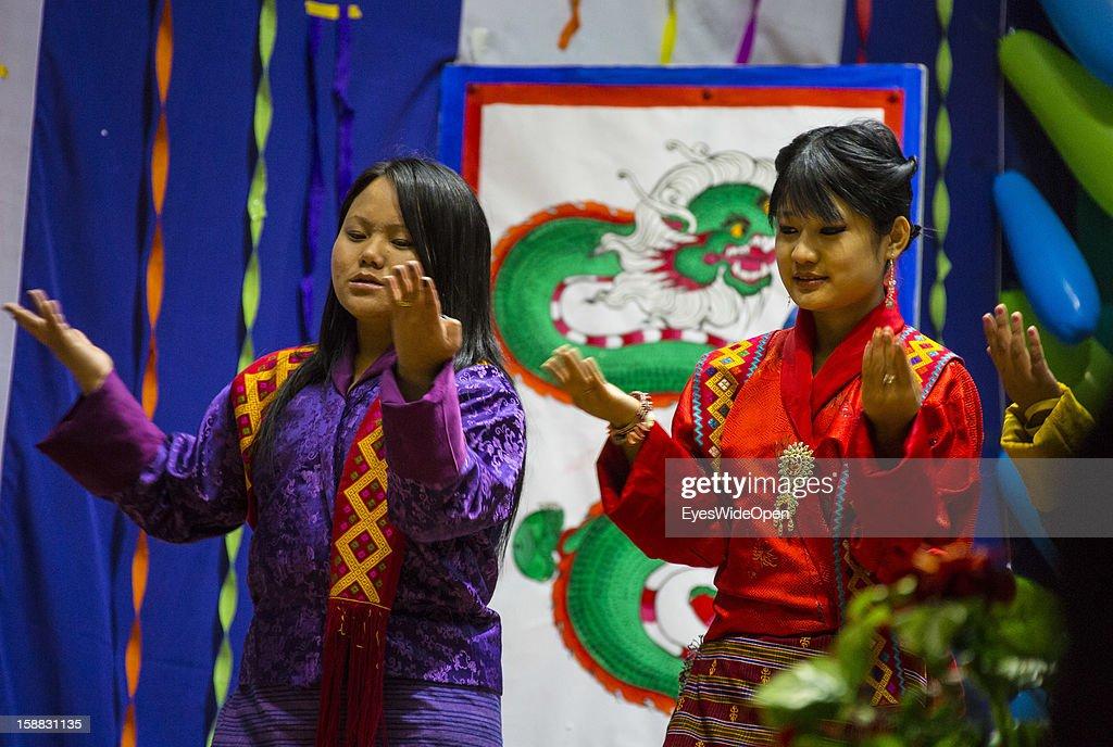 Pupils at school degree celebrations on November 18, 2012 in Thimphu, Bhutan.