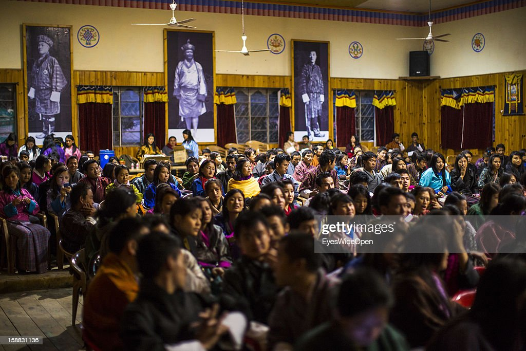 Pupils at school degree celebrations on November 18, 2012 in Thimphu, Bhutan.