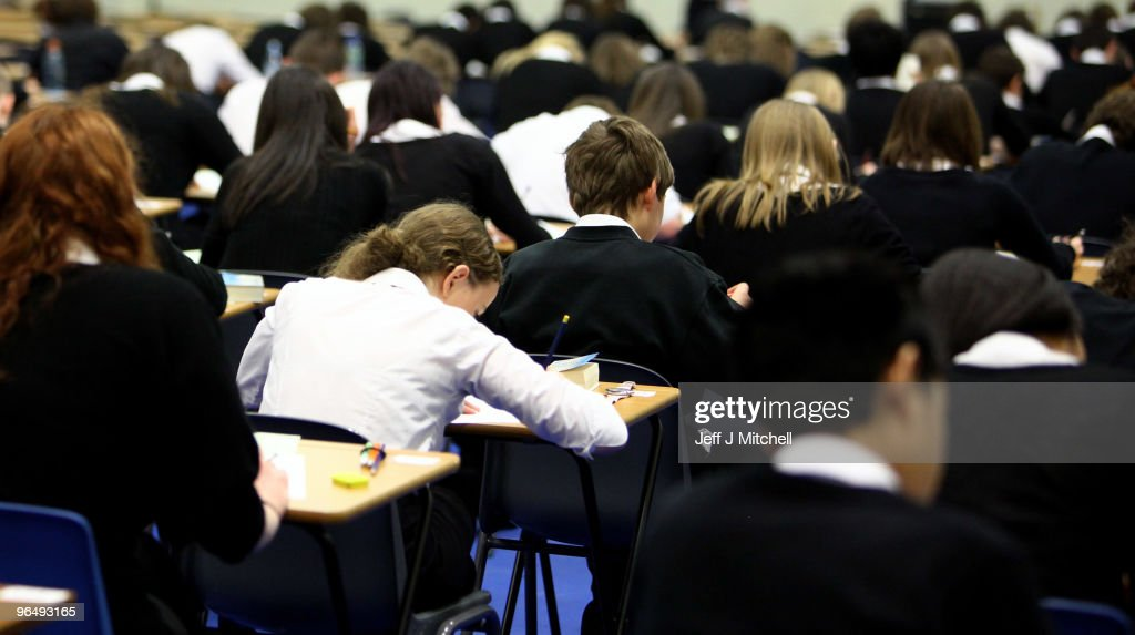 Pupils at Williamwood High School sit prelim exams on February 5, 2010 in Glasgow, Scotland As the UK gears up for one of the most hotly contested general elections in recent history it is expected that that the economy, immigration, the NHS and education are likely to form the basis of many of the debates.