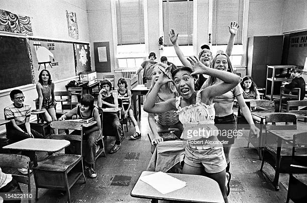 Pupils celebrate the last day of school at William King Elementary in the Appalachian town of Abingdon in Southwest Virginia 5104602RA_Appalachia52jpg