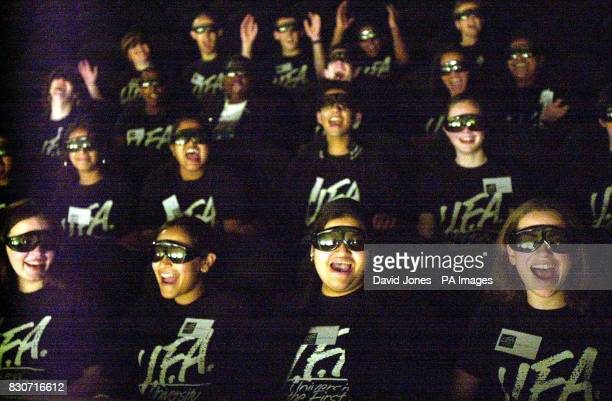 Pupils of the 'University of the First Age' watching a 3D film at the IMEX cinema at the 'Think Tank' in Birmingham's Millennium Point which was...