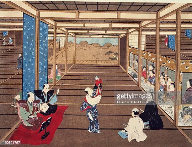 Puppet show kakemono by Torii Kiyomasu I Japan Japanese Civilisation 17th18th century