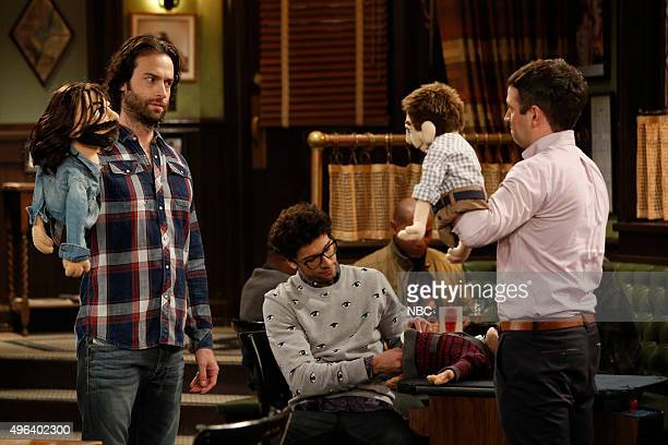 UNDATEABLE 'A Puppet Walks Into a Bar' Episode 306A Pictured Chris D'Elia as Danny Rick Glassman as Burski Brent Morin as Justin