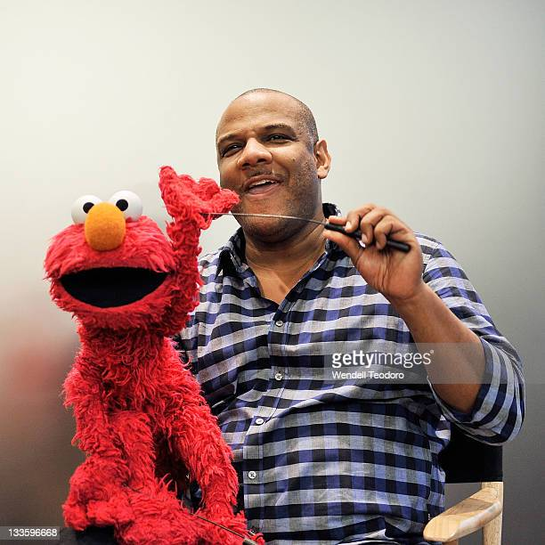 Puppeteer and creator of Elmo Kevin Clash visits the Apple Store Upper West Side on November 20 2011 in New York City