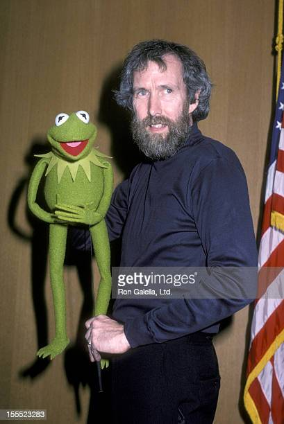 Puppeteer Jim Henson and Kermit the Frog attend Stars Salute to Olympic Swimming Team on January 29 1984 at the Pasadena Civic Auditorium in Pasadena...