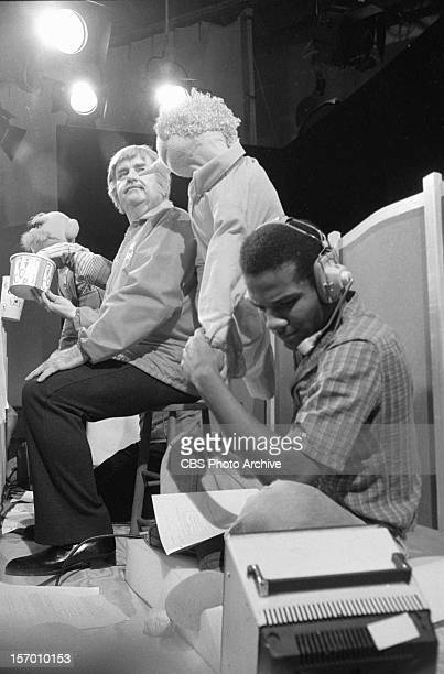 KANGAROO Puppeteer Kevin Clash foreground on Captain Kangaroo Bob Keeshan as Captain Kangaroo sitting Image dated August 19 1980