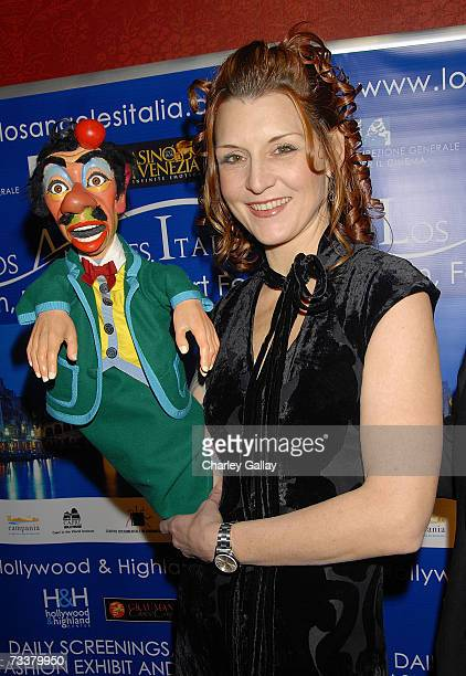 Puppeteer Laura Calder attends the world premiere of 'The Inquiry' during the 'Los Angeles Italia' Film Festival at the Mann Chinese 6 Theaters on...