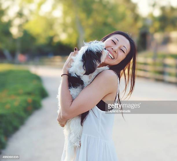Puppy Kisses - With Young Woman