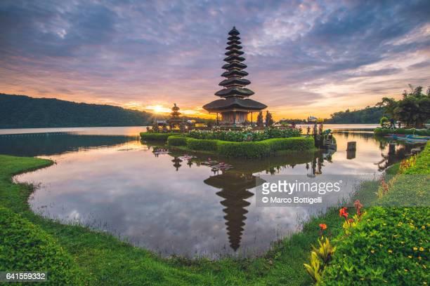 Pura Ulun Danu Bratan water temple. Bali.