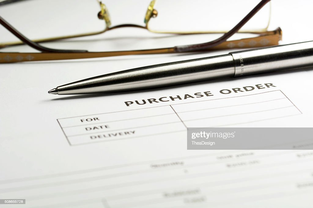 Purchase order form : Stock Photo