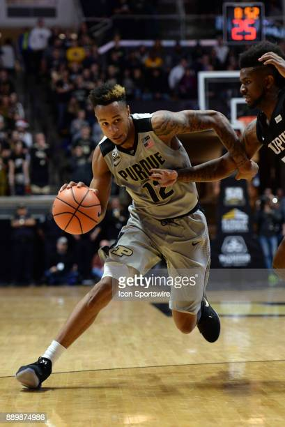 Purdue Boilermakers Forward Vincent Edwards heads to the basket during the college basketball game between the IUPUI Jaguars and the Purdue...