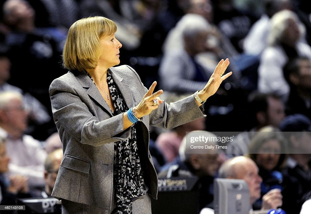 Purdue's Sharon Versyp yells to her players during a women's college basketball game against Penn State at the Bryce Jordan Center in State College, Pa., on Sunday, Jan. 12, 2014.