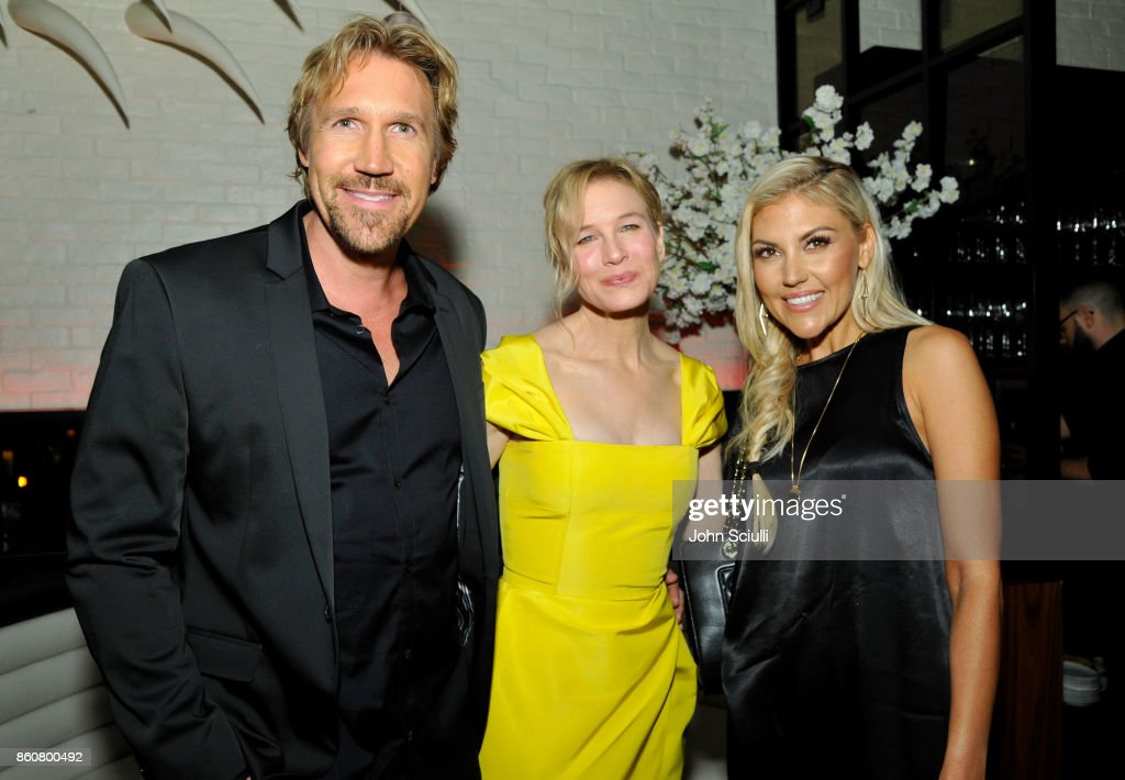 Pure Flix Founder David A.R. White, Actress Renee Zellweger and Andrea Logan White attend Same Kind Of Different As Me Premiere on October 12, 2017 in Los Angeles, California.