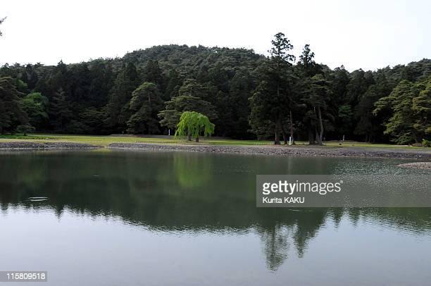 Pure Land Garden of the Motsuji temple on May 29 2011 in Hiraizumi Japan Iwate Prefecture's cultural Hiraizumi area and Chusonji temple have won...