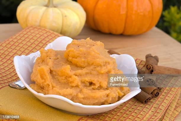 Puré, puré de calabaza & Cinnamon Spice, Squash del Día de Acción de gracias