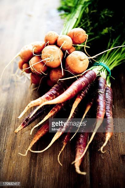 Violet et Thumbelina carottes