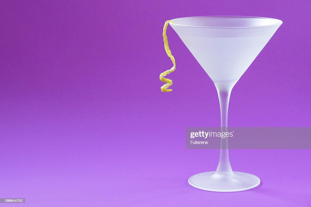 Purple Background Martini