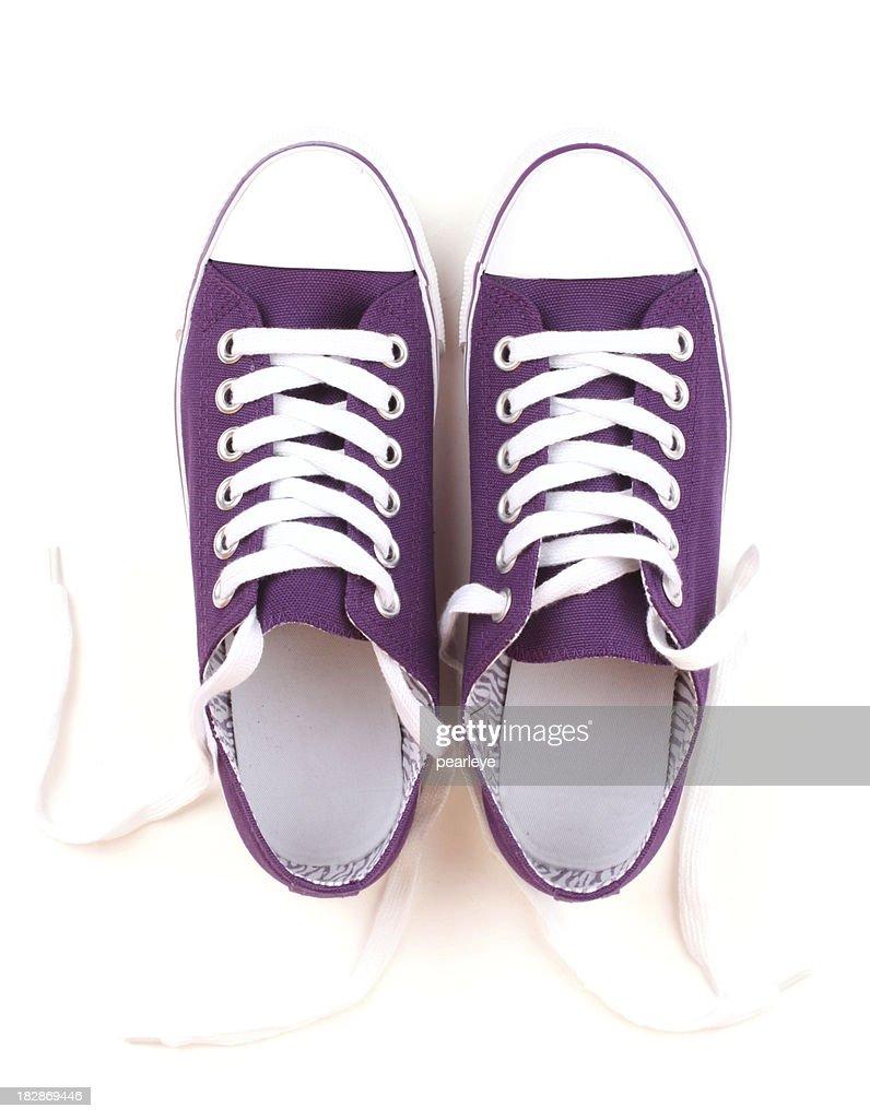 Purple Canvas Shoes