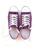 Purple Canvas Shoes