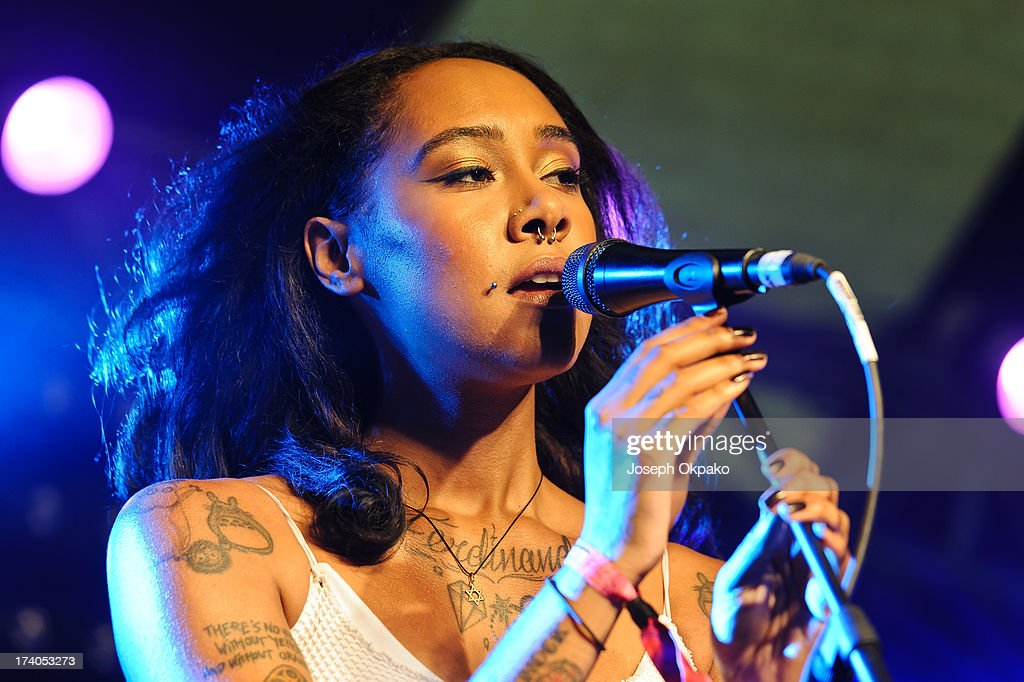 Purple Ferdinand performs on Day 1 of the Lovebox festival at Victoria Park on July 19, 2013 in London, England.