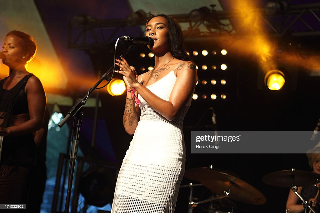 Purple Ferdinand performs on stage on day 1 of Lovebox Festival 2013 at Victoria Park on July 19, 2013 in London, England.