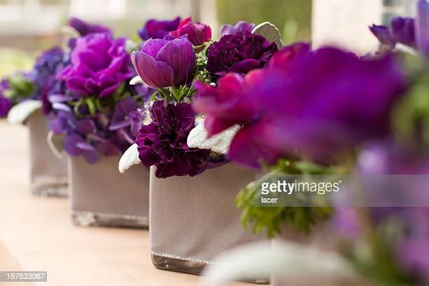 Purple Flower Centerpieces