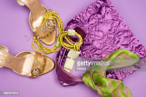 Purple & Green Fashion