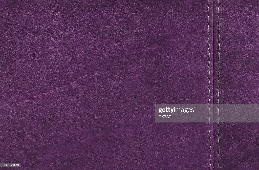 Purple  Leather Texture with Stitch Detail