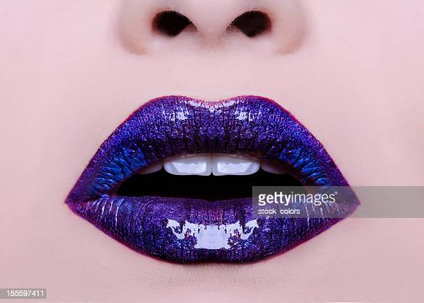 purple Lippen